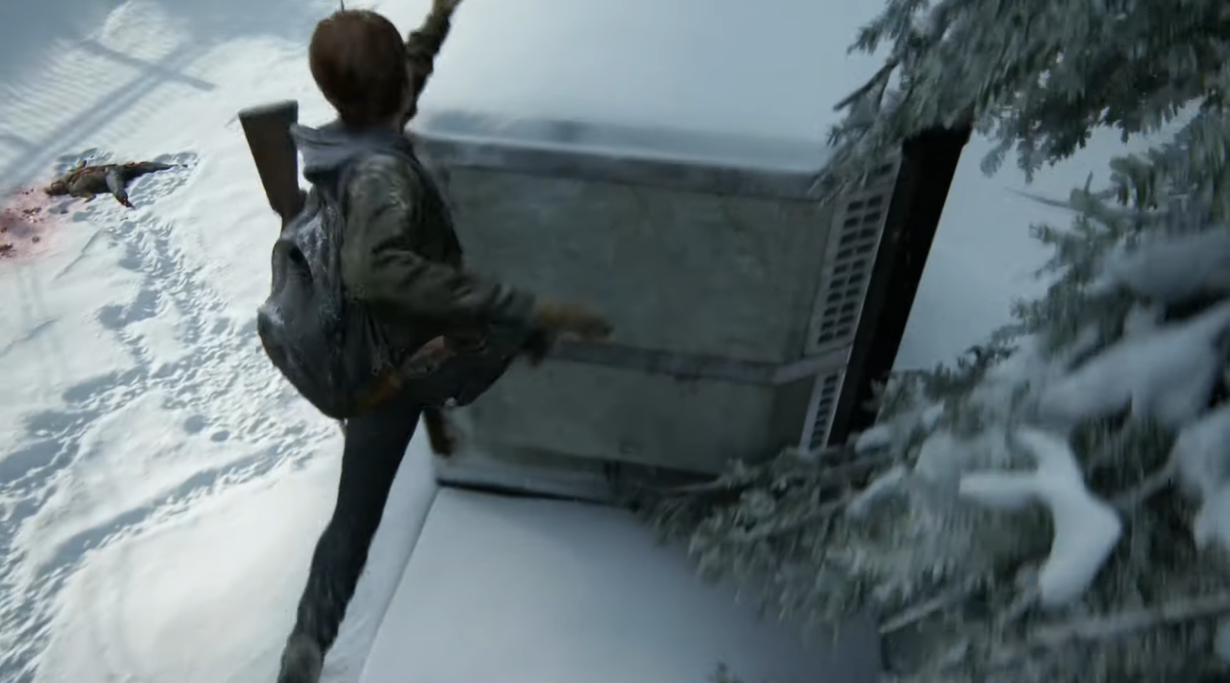 二代当中Ellie将能够进行跳跃。 图:翻摄自YouTube